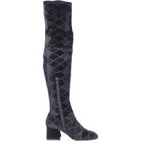 Topánky Ženy Cizmy Nad Kolenà Apepazza BJ801 Čierna