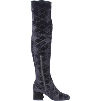 Topánky Ženy Cizmy Nad Kolenà Apepazza Čižmy BJ801 Čierna