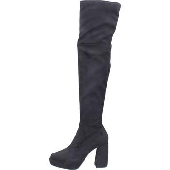 Topánky Ženy Cizmy Nad Kolenà Elvio Zanon Čižmy BJ810 Čierna