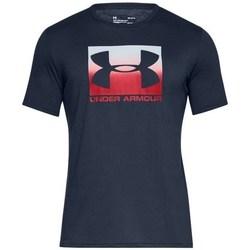 Oblečenie Muži Tričká s krátkym rukávom Under Armour Boxed Sportstyle Biela, Červená, Tmavomodrá