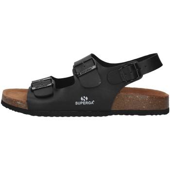 Topánky Muži Sandále Superga S11G046 BLACK