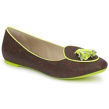 Topánky Ženy Mokasíny Etro BALLERINE 3738 Brown / Citron