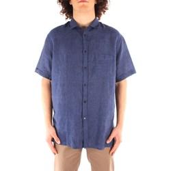 Oblečenie Muži Košele s krátkym rukávom Trussardi 52C00213 1T002248 NAVY BLUE