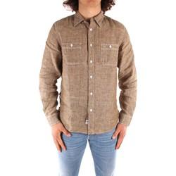Oblečenie Muži Košele s dlhým rukávom Blauer 21SBLUS01221 BROWN