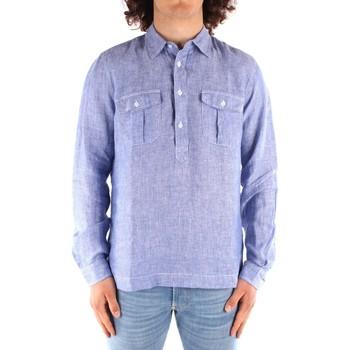 Oblečenie Muži Košele s dlhým rukávom Blauer 21SBLUS01216 BLUE