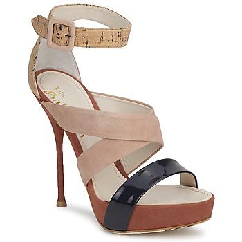 Topánky Ženy Sandále John Galliano AN6363 Ružová / Námornícka modrá / Béžová