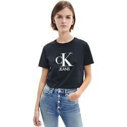 Oblečenie Ženy Tričká s krátkym rukávom Calvin Klein Jeans J20J215312 čierna