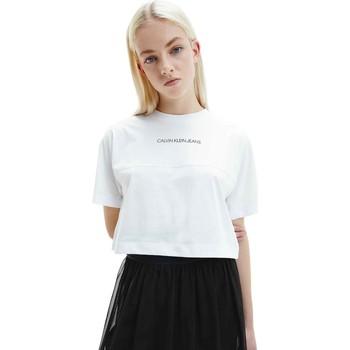 Oblečenie Ženy Tričká s krátkym rukávom Calvin Klein Jeans J20J215313 Biely