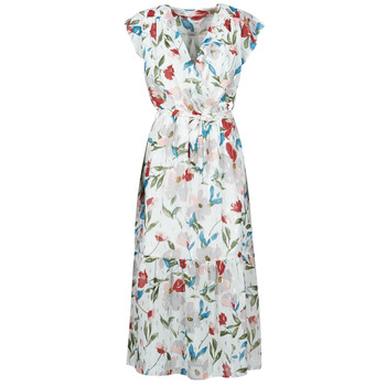 Oblečenie Ženy Dlhé šaty Moony Mood OLICA Biela / Viacfarebná
