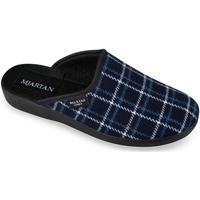 Topánky Ženy Papuče Mjartan Dámske modré papuče  LINES tmavomodrá
