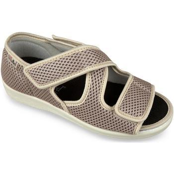 Topánky Ženy Papuče Mjartan Dámske béžové papuče  CALEY béžová