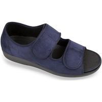 Topánky Muži Papuče Mjartan Pánske modré sandále  MATEJ tmavomodrá