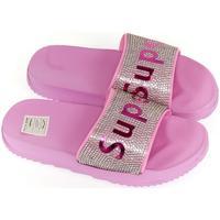 Topánky Dievčatá športové šľapky John-C Detské ružové šľapky SUPER ružová