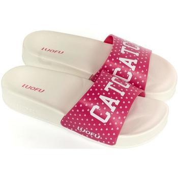Topánky Ženy športové šľapky Wink Dámske bielo-ružové šľapky CATCH biela