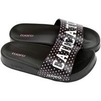 Topánky Ženy športové šľapky Wink Dámske čierne šľapky CATCH čierna