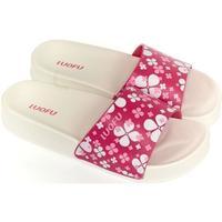 Topánky Ženy športové šľapky Wink Dámske bielo-ružové šľapky MISCHA biela
