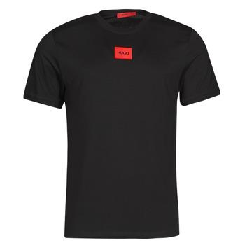 Oblečenie Muži Tričká s krátkym rukávom HUGO DIRAGOLINO Čierna / Červená