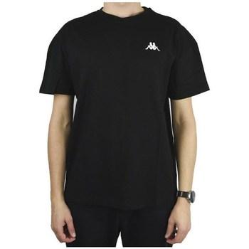 Oblečenie Muži Tričká s krátkym rukávom Kappa Veer Tshirt Čierna