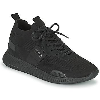 Topánky Muži Nízke tenisky BOSS TITANIUM RUNN KNST1 Čierna