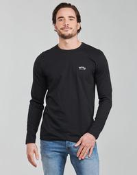 Oblečenie Muži Tričká s dlhým rukávom BOSS TOGN CURVED Čierna