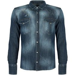 Oblečenie Muži Košele s dlhým rukávom Takeshy Kurosawa  Modrá
