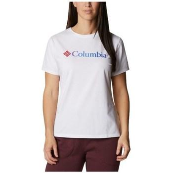 Oblečenie Ženy Tričká s krátkym rukávom Columbia Sun Trek W Graphic Tee Biela