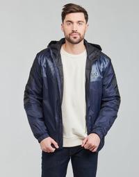 Oblečenie Muži Bundy  Emporio Armani EA7 TRAIN LOGO SERIES Námornícka modrá