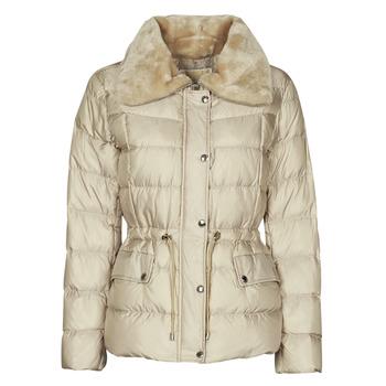 Oblečenie Ženy Vyteplené bundy MICHAEL Michael Kors ECO FX FUR CLLR PUFFER Slonia kosť