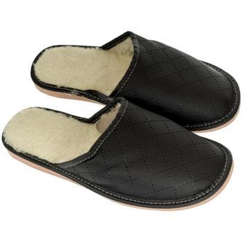 Topánky Muži Papuče John-C Pánske čierne papuče LINES čierna