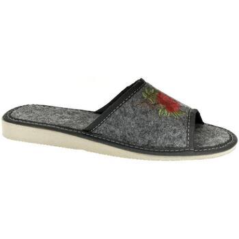 Topánky Ženy Papuče John-C Dámske tmavo-sivé papuče ROSS tmavosivá