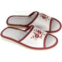 Topánky Ženy Papuče John-C Dámske bielo-červené papuče MALVINA červená