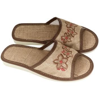 Topánky Ženy Papuče John-C Dámske svetlo-hnedé papuče RIVKA ťavia