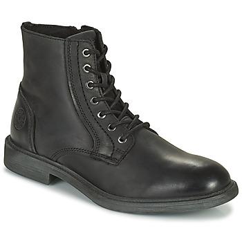 Topánky Muži Polokozačky Jack & Jones JFW KARL LEATHER BOOT Čierna