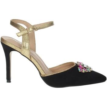 Topánky Ženy Sandále Menbur 22362 Black/Gold