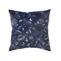 Domov Obliečky na vankúše Broste Copenhagen BELL FLOWER Modrá / Nočná obloha