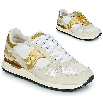 Topánky Ženy Nízke tenisky Saucony SHADOW ORIGINAL Biela / Zlatá