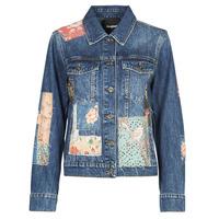 Oblečenie Ženy Džínsové bundy Desigual JAPO PATCH Modrá