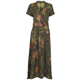 Oblečenie Ženy Dlhé šaty Desigual AMSTERDAM Kaki
