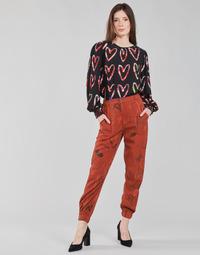 Oblečenie Ženy Padavé nohavice Desigual CAMOTIGER Červená
