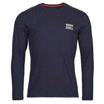 Oblečenie Muži Tričká s dlhým rukávom Oxbow N2TORJOK Námornícka modrá