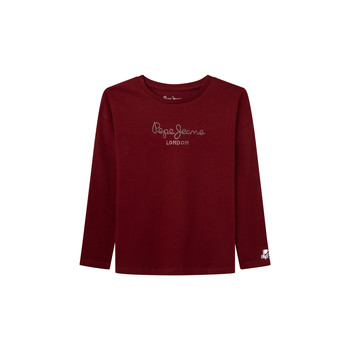 Oblečenie Dievčatá Tričká s dlhým rukávom Pepe jeans NURIA LS Červená