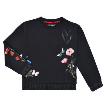 Oblečenie Dievčatá Mikiny Desigual ALICIA Čierna