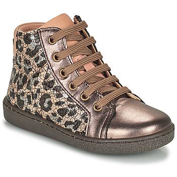 Topánky Dievčatá Členkové tenisky Bisgaard GAIA Leopard / Zlatá
