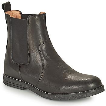 Topánky Dievčatá Polokozačky Bisgaard NANNA Čierna
