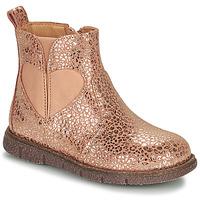 Topánky Dievčatá Polokozačky Bisgaard MELODY Ružová / Zlatá