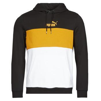 Oblečenie Muži Mikiny Puma ESS+ COLORBLOCK HOODIE FL Čierna / Žltá