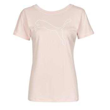 Oblečenie Ženy Tričká s krátkym rukávom Puma TRAIN FAVORITE JERSEY CAT TEE Ružová