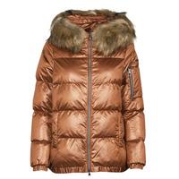 Oblečenie Ženy Vyteplené bundy Geox BAKSIE Hnedá / Frozen