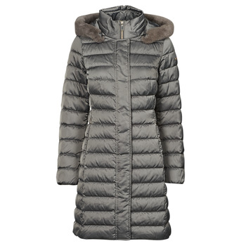 Oblečenie Ženy Vyteplené bundy Geox W BETTANIE LONG JKT Strieborná
