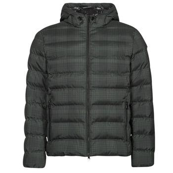 Oblečenie Muži Vyteplené bundy Geox SANDFORD Čierna / Kaki